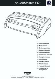 EDNord - Ibico Lamineringsmaskine Pouchmaster PQ Brugsanvisning
