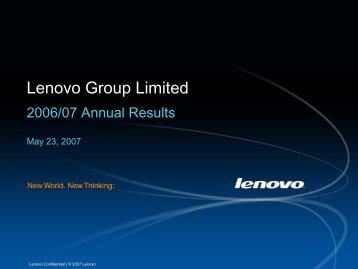 Presentation - Lenovo