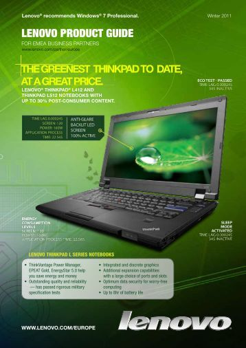 LENOVO PRODUCT GUIDE