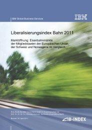 Liberalisierungsindex Bahn 2011 - Deutsche Bahn AG