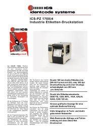 ICS-PZ 170Xi4 Industrie Etiketten-Druckstation - ICS Identcode ...
