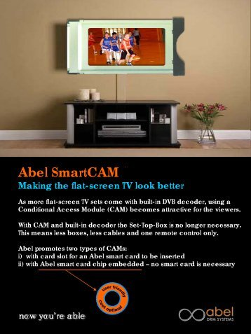 CAM leaflet - Abel DRM Systems