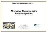 Alternative Therapien beim Reizdarmsyndrom - Reizdarm Selbsthilfe