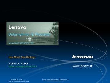 Lenovo Corporate Template - Schloss Ort Gmunden