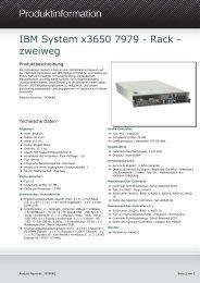 IBM System x3650 7979 - Rack - zweiweg