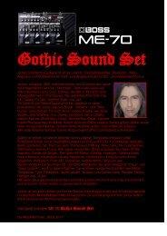 Boss ME-70 Gothic Sound Set - Sounds der Helden