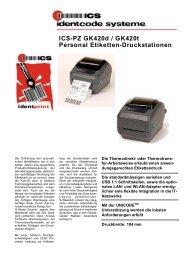 ICS-PZ GK420d/GK420t Personal Etiketten-Druckstationen Industrie