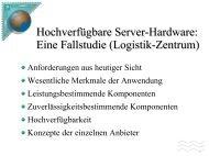 Hochverfügbare IT-Systeme