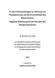 In vitro Untersuchungen zur Wirkung von Phytopharmaka auf die ...