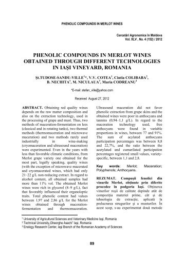 phenolic compounds in merlot wines obtained through different ...