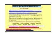 IBM ServicePac® SELECTION GUIDE