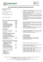 lista produktów dla przemysłu mięsnego m01/i/2011 - Hortimex