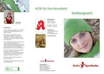 Erkältungszeit! - Activ Apotheke Ludwigshafen