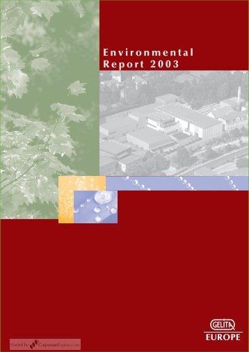Environmental Report 2003 - CorporateRegister.com