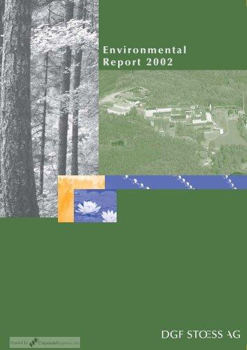Environmental Report 2002 - CorporateRegister.com