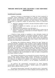 mercado brasileiro para gelatinas e seus ... - BrasilGlobalNet