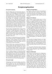 Energiemangelsyndrom - Dreluso Pharmazeutika GmbH
