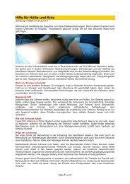 Hilfe für Hüfte und Knie - Forum-Bioenergetik eV