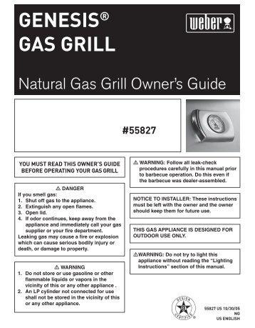 Genesis gas grill - Help - Weber