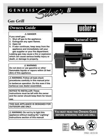 Genesis Silver B NG Owners Guide 55021 03/21 ... - Help - Weber