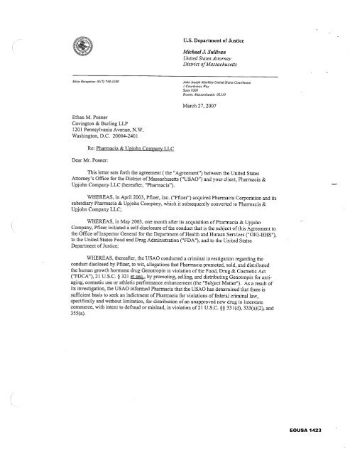 deferred prosecution agreement federal contractor misconduct
