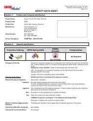 SDS Acrylic Tub and Tile Caulk_LA-CO Industries, Inc.