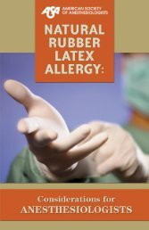 Natural Rubber Latex Allergy - American Society of Anesthesiologists