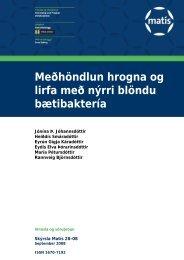 Meðhöndlun hrogna og lirfa með nýrri blöndu bætibaktería - Matís