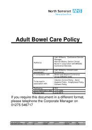Adult Bowel Care Policy.pdf - NHS North Somerset