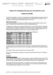 Kødbenmel fra Gelita 0930F - Pelsdyrafgiftsfonden