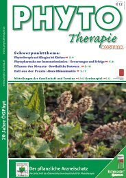 20 Jahre Ö GPh yt - bei PHYTO Therapie - phytotherapie.co.at