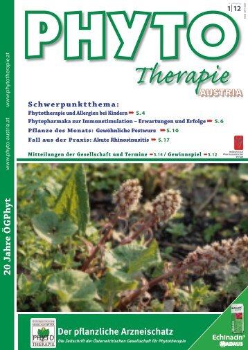 20 Jahre Ö GPh yt - bei PHYTO Therapie - phytotherapie.co.at