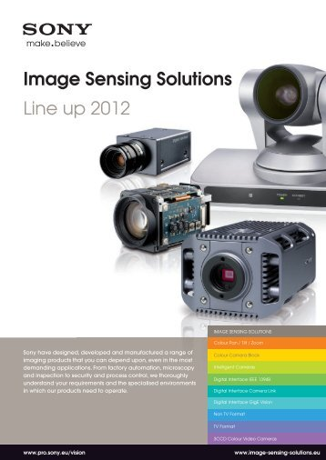 Image Sensing Solutions Line up 2012 - MaxxVision