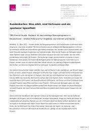 Presseinformation als PDF - TNS Emnid