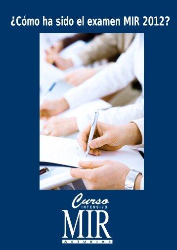 ¿Cómo ha sido el examen MIR 2012?