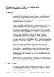 Helicobacter pylori - Clarithromycin-Resistenz - IMD-Lab