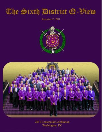 The Sixth District Q-View - 6th District of Omega Psi Phi Fraternity, Inc.