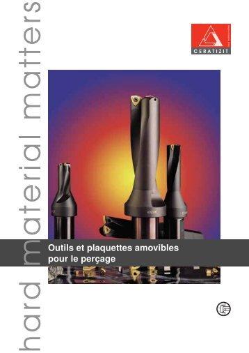 Outils et plaquettes amovibles pour le per