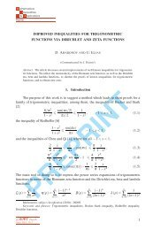 Improved inequalities for trigonometric functions via ... - Ele-Math