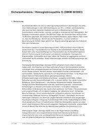 Sichelzellanämie / Hämoglobinopathie S (OMIM 603903) - IMD-Lab