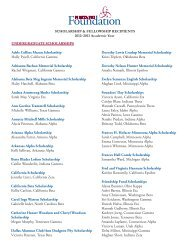 SCHOLARSHIP & FELLOWSHIP RECIPIENTS 2012–2013 ...