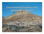 Environmental Dynamics and Sedimentary Records
