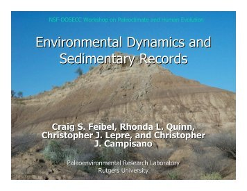 Environmental Dynamics and Sedimentary Records