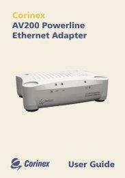 User Guide Corinex AV200 Powerline Ethernet Adapter