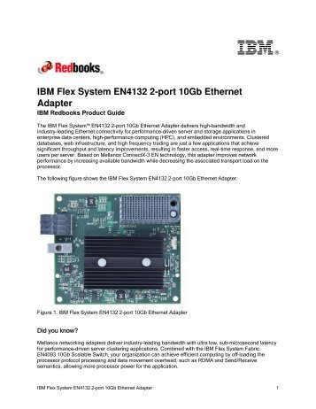 IBM Flex System EN4132 2-port 10Gb Ethernet Adapter