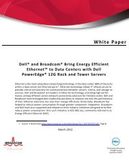 Dell® and Broadcom® Bring Energy Efficient Ethernet