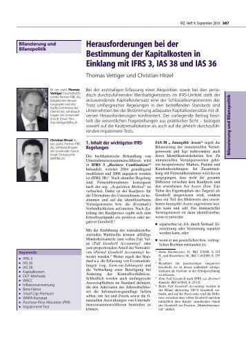 Herausforderungen bei der Bestimmung der Kapitalkosten in - IFBC