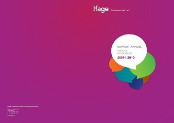 Le secteur des arts appliqués de l'Ifage propose un choix d ...