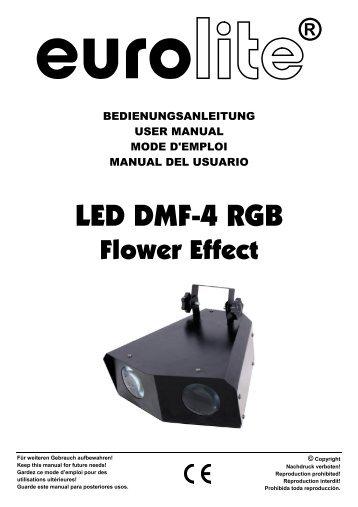EUROLITE LED DMF-4 RGB User Manual - Ljudia