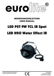EUROLITE LED PST-9W TCL IR Spot User Manual
